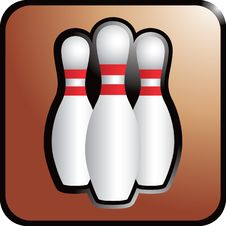 Bowling Pins On Brown Background Stock Photography