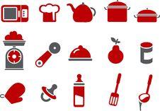 Food Icon Set Royalty Free Stock Photos