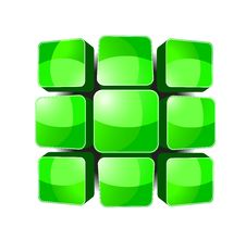 Free Green Keyboard Royalty Free Stock Photo - 8985015