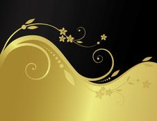 Free Golden Floral Background Royalty Free Stock Photography - 8985947