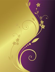 Free Golden Floral Background Royalty Free Stock Images - 8985959