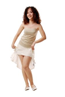 Free Funny Girl In A Light Clothes Royalty Free Stock Images - 8986109