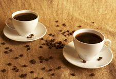 Free Two Cups Of Coffee Royalty Free Stock Photos - 8986278