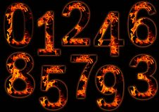 Free Digits On Fire Stock Images - 8986574