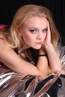 Fashion Model In Studio Stock Photography