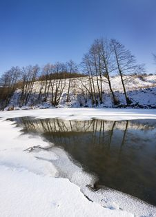 Winter Lanscape Stock Photography
