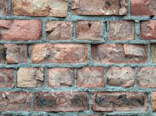 Detailed Brick Wall Background Royalty Free Stock Image