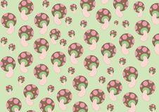 Free Mushrooms Patterns Stock Photos - 8989703