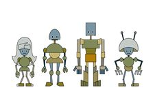 Free Robots Family Royalty Free Stock Photo - 8989985