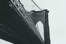 Free Under Stanchions Of Bridge Royalty Free Stock Photo - 89891395