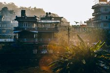 Free Outside Of Houses At Sunset Royalty Free Stock Photos - 89892238