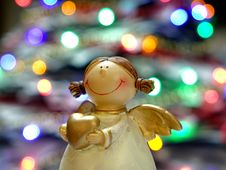 Free Bokeh Shot Of White And Gold Ceramic Angel Royalty Free Stock Photo - 89892835