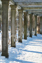 Free Winter Colonnade Royalty Free Stock Photos - 8997118