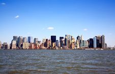 Free The Lower Manhattan Skyline Royalty Free Stock Photos - 8990188