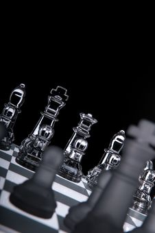 Free Transparent Chess Board Black Background Stock Photos - 8990303