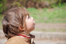 Free A Child Looks Up Stock Image - 8990441