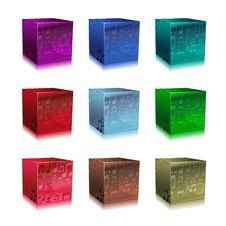 Free Glass Cubes Royalty Free Stock Images - 8990659