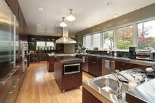 Free Kitchen In Luxury Home Stock Photography - 8990762