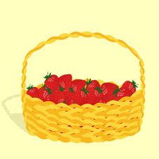 Free Basket With Strawberry Royalty Free Stock Photos - 8992548