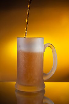 Beer Pouring Into A Glass Royalty Free Stock Image