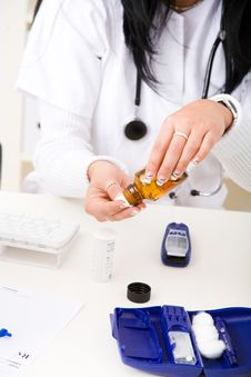 Free Check The Blood-sugar Level Stock Images - 8993144
