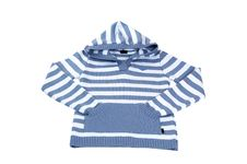 Comfortable Blue Sweater On A White. Royalty Free Stock Photos