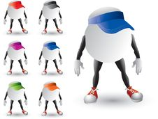 Free Isolated Ping Pong Ball Characters With Visors Royalty Free Stock Photos - 8993548