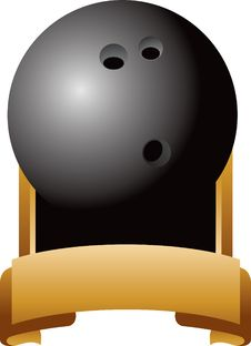 Free Bowling Ball Trophy Royalty Free Stock Photo - 8993635