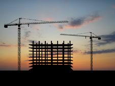 Free Crane Construction Royalty Free Stock Photography - 8993987
