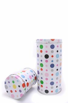 Free Polka Dot Cans Royalty Free Stock Images - 8994079