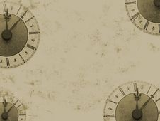 Free Grunge Clock Royalty Free Stock Images - 8995489
