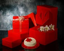Free Red Boxes Royalty Free Stock Image - 8995596