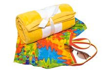 Free Towel Swimsuit And Glasses Royalty Free Stock Photos - 8995918