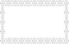Free Patterned Frame Background Royalty Free Stock Photo - 8996405