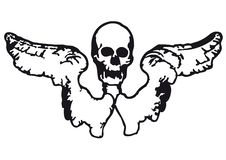 Free Skull And Wings (vector) Royalty Free Stock Image - 8996576