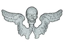 Free Skull And Wings (vector) Royalty Free Stock Photos - 8996618