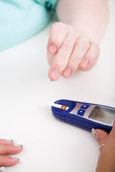 Free Check The Blood-sugar Level Stock Image - 8996681