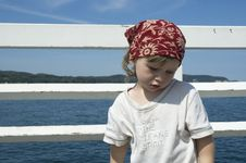Free Sweet Girl On A Dock Stock Photos - 8997893