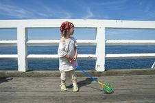 Free Sweet Girl On A Dock Stock Images - 8997904