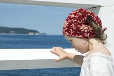 Free Sweet Girl On A Dock Stock Photo - 8997920