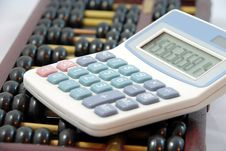 Free Abacus   And  Calculator Royalty Free Stock Photo - 8999375