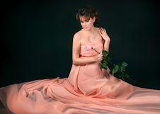Free Pregnant Woman On Dark Background Stock Photo - 8999780