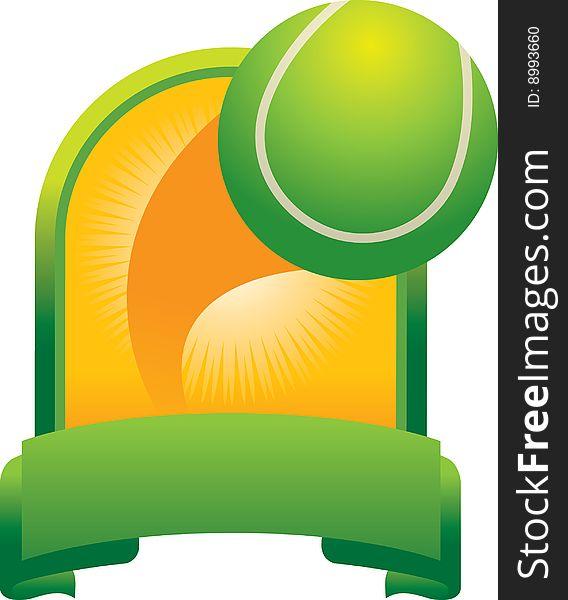 Tennis ball trophy