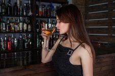 Free Drink, Girl, Bar, Black Hair Royalty Free Stock Images - 89902349