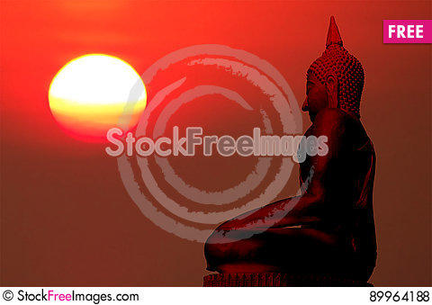 Free Silhouette Of Buddha Royalty Free Stock Photos - 89964188