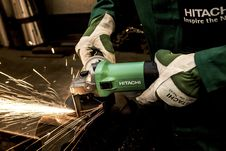 Free Sparks From Mechanical Grinder On Metal Stock Photos - 89962903