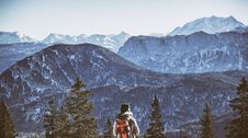 Free Backpacker At Mountains Stock Photos - 89963363
