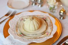 Free Plate Setting With Pumpkin Stock Image - 89963431