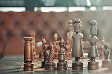 Free Brown And Grey Chess Piece On Chess Board Stock Photo - 89964060