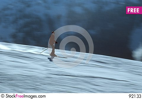 Free Skier In Action 4 Stock Photos - 92133